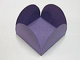 Caixeta Dobravel Papel Lisa Roxa, Medidas: 3.5 X 3.5 X 2.5 cm