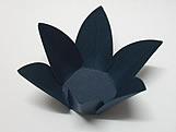 Caixeta Dobravel Papel Flor Azul Marinho