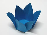 Caixeta Dobravel Papel Flor Azul Royal