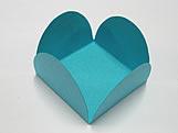 Caixeta Dobravel Papel Lisa Azul Turquesa / Tiffany