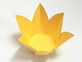 Caixeta Dobravel Papel Flor Amarela, Medidas: 2.3 X 2.3 X 3 cm