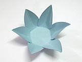 Caixeta Dobravel Papel Flor Azul Claro
