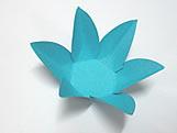Caixeta Dobravel Papel Flor Azul Turquesa / Tiffany