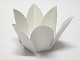 Caixeta Dobravel Papel Flor Branca