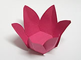 Caixeta Dobravel Papel Flor Pink, Medidas: 2.3 X 2.3 X 3 cm