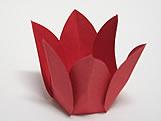 Caixeta Dobravel Papel Flor Vermelha