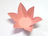 Caixeta Dobravel Papel Flor Rosa, Medidas: 2.3 X 2.3 X 3 cm