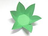 Caixeta Dobravel Papel Flor Verde Claro