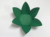 Caixeta Dobravel Papel Flor Verde Escuro