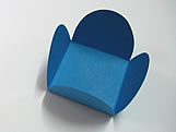 Caixeta Dobravel Papel Lisa Azul Royal