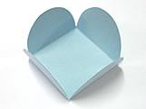 Caixeta Dobravel Papel Lisa Azul Claro, Medidas: 3.5 X 3.5 X 2.5 cm