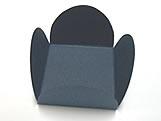 Caixeta Dobravel Papel Lisa Azul Marinho