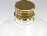 Frasco Quadrado 350ml com tampa Ouro Aluminio