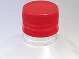 Frasco Quadrado 350ml com tampa Vermelha