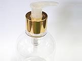 Frasco 250ml com Válvula Pump Ouro (Aluminio)