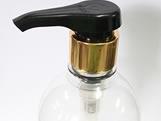 Frasco 500ml com Valvula Pump Alta Vazão Ouro (Alumínio)