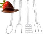 Kit Garfos para Banhar Chocolate 4 peças Cristal Ref.787 BWB