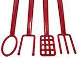 Kit Garfos para Banhar Chocolate 4 peças Vermelho Ref.785 BWB