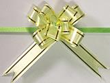 Laço Pequeno Verde Claro Borda Ouro