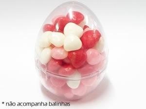 Mini Ovo de Galinha Cristal, Medidas: 4.1 X 4.1 X 5.7 cm