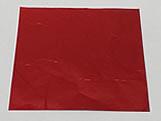 Papel Chumbo Aluminio 10x10cm Vermelho, Medidas: 10 X 10 X 1 cm
