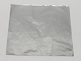 Papel Chumbo Aluminio Prata 10x10cm 300fls
