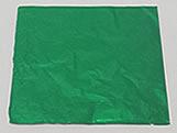 Papel Chumbo Aluminio 10x10cm Verde Escuro, Medidas: 10 X 10 X 1 cm