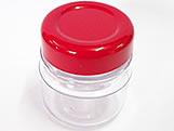 Potinho 40ml Vermelho (Tipo Papinha), Medidas: 4.5 X 4.5 X 5 cm