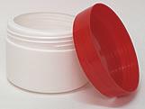 Pote Redondo S9 250g Branco/Vermelho
