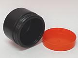 Pote Redondo S9 250g Preto/Laranja, Medidas: 9 X 9 X 6.5 cm