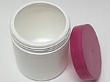 Pote Redondo S9 500g Branco/Pink, Medidas: 9 X 9 X 10.5 cm