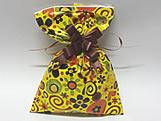 Saco de Presente Flowers Amarelo 20x30, Medidas: 20 x 30 cm