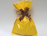 Saco de Presente Liso Amarelo 20x30