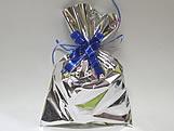 Saco de Presente Liso Prata 20x30 Metalizado, Medidas: 20 x 30 cm