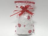 Saco de Presente Emo��es Vermelhas 11x20, Medidas: 11 x 20 cm