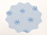 Tapetinho para Doces Azul, Medidas: 9 Ø cm