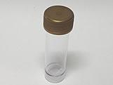 Tubete 9cm com Tampa Ouro, Medidas: 2.5 x 2.5 x 9 cm