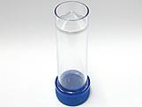 Tubete 9cm com Tampa Azul Escuro, Medidas: 2.5 x 2.5 x 9 cm