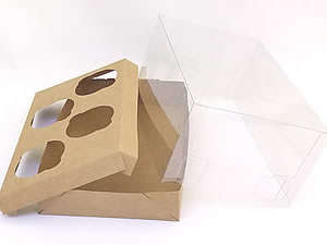 Caixa para 4 Mini Cupcakes Combo-47
