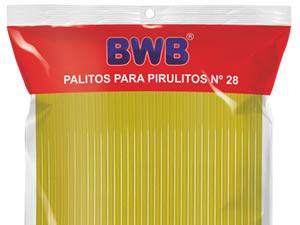 Canudo Palito para Pirulito Grande Amarelo nº28 Ref.280 BWB