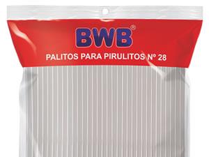 Canudo Palito para Pirulito Grande Cristal nº28 Ref.283 BWB