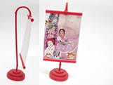 Mini Banner Vermelho, Medidas: 10 x 15 cm