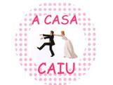 Adesivo Casamento A Casa Caiu Ref-50AC, Medidas: Ø 5.2 cm cm