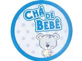 Adesivo Chá de Bebê Urso Azul Ref-58AC, Medidas: Ø 5.2 cm cm