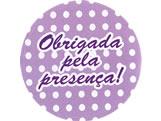 Adesivo Obrigada Lilas/Branco Poa Ref-73AC