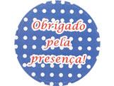 Adesivo Obrigado Azul/Branco Poa Ref-74AC