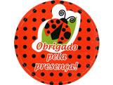 Adesivo Obrigado Joaninha Ref-72AC