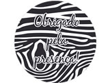 Adesivo Obrigado Zebra Ref 6018, Medidas: Ø 5 cm cm