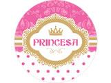 Adesivo Princesa Ref 5851, Medidas: Ø 5 cm cm