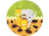 Adesivo Safari Baby Ref 5875, Medidas: Ø 5 cm cm